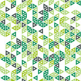 Abstract seamless pattern in isometric style. Shades of green. Bright fresh color. Stock Photo
