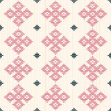 Abstract seamless pattern. Kogin embroidery style. Royalty Free Stock Photography