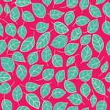 Abstract seamless pattern with leaves Royalty Free Stock Image