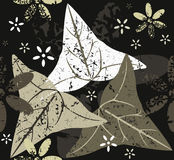 Abstract Seamless Pattern With Leaves And Flowers Stock Photography