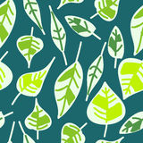 Abstract seamless pattern of leaves Stock Images