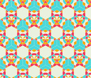 Abstract seamless pattern. Abstract seamless light blue grey star kaleidoscopic futuristic pattern Royalty Free Stock Photography