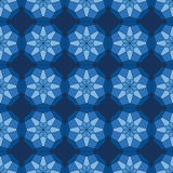Abstract seamless pattern. Abstract seamless light blue star kaleidoscopic pattern Royalty Free Stock Photo