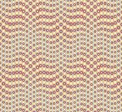 Abstract seamless pattern on a light green background. Has the shape of a wave. Consists of round geometric shapes. Royalty Free Stock Photography