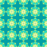 Abstract seamless pattern. Abstract seamless light green blue kaleidoscopic star pattern Royalty Free Stock Images