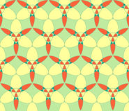 Abstract seamless pattern. Abstract seamless light green yellow orange circle kaleidoscopic pattern Royalty Free Stock Image
