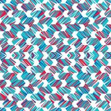 Abstract seamless pattern of lines and angles. Constant movement of geometric shapes. Contrasting shades of color vector illustration