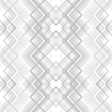 Abstract seamless pattern of lines and angles. Monochrome image. Optical illusion picture depth Stock Photography