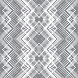 Abstract seamless pattern of lines and angles. Monochrome image. Optical illusion picture depth Stock Photo