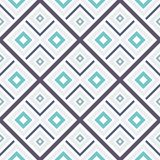 Abstract seamless pattern of lines and squares. Simple geometric shapes. Mosaic of shapes Stock Images
