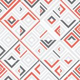 Abstract seamless pattern of lines and squares. Simple geometric shapes. Mosaic of shapes Royalty Free Stock Photo