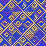 Abstract seamless pattern of lines and squares. Simple geometric shapes. Mosaic of shapes stock illustration