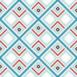 Abstract seamless pattern of lines and squares. Simple geometric shapes. Mosaic of shapes Stock Photography