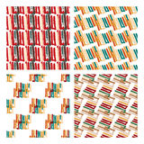 Abstract seamless pattern with lines and stripes in variety of colors. Royalty Free Stock Image