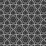 Abstract seamless pattern lines with wavy, hexagon vector background Royalty Free Stock Photos