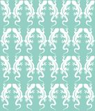 Pattern white lizards stock illustration