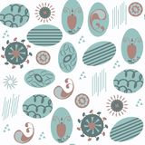 Abstract  seamless pattern. It is located in swatch menu Royalty Free Stock Images