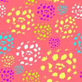Abstract seamless pattern made by artist acrylic hard brushes on pink Stock Photography
