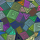 Abstract seamless pattern made of colorful elements Stock Images