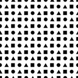 Abstract seamless pattern made of geometric shapes. Vector format added Stock Photos