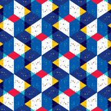 Abstract seamless pattern of many triangles. Pattern with a geometric texture in grunge style. royalty free illustration