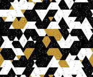 Abstract seamless pattern of many triangles. Pattern with a geometric texture in grunge style. stock illustration