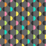 Geometric colorful background design template. Abstract seamless pattern in minimalist style. Geometric colorful design template. Wavy vector background. Ordered vector illustration