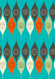 Abstract seamless pattern. Modern style linear floral motif. Abstract seamless pattern. Modern style motif. Linear floral geometric elements on teal background stock illustration