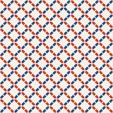 Abstract seamless pattern. Modern stylish texture. Regularly repeating rhombuses made of geometric shapes. Linear style. Vector color background Vector Illustration