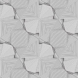 Abstract seamless pattern. Modern stylish texturegeometric backg. Round with rhombus, triangles, polygons, lines Stock Photography