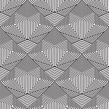 Abstract seamless pattern. Modern stylish texturegeometric backg. Round with rhombus, triangles, polygons, lines Royalty Free Stock Photography