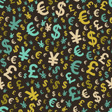 Abstract seamless pattern with money Royalty Free Stock Photo