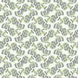 Abstract seamless pattern with money. Stock Photo