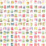 Abstract Seamless Pattern with Multicolored Pastel Pencils Strokes. Stock Image