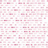 Abstract seamless pattern. New Year 2015 background Stock Photos