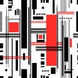 Abstract Seamless Pattern Of Geometric Stripes Royalty Free Stock Photos