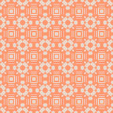 Abstract seamless pattern in orange color. Stock Photography