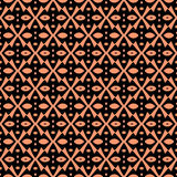 Abstract seamless pattern in orange color. Royalty Free Stock Photography