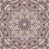 Abstract seamless pattern ornamental. Vintage abstract mosaic tiles seamless pattern ornamental Stock Photography