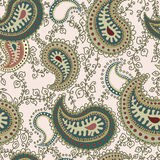 Abstract seamless pattern with paisley elements royalty free illustration