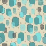 Abstract seamless pattern with patch Royalty Free Stock Image