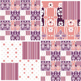 Abstract seamless pattern patchwork design background Royalty Free Stock Photo