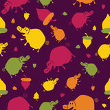 Abstract seamless pattern with pigs Stock Photos