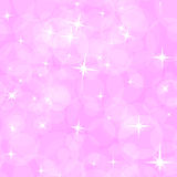Abstract seamless pattern. Abstract pink pattern for children. The asterisks and circles Royalty Free Stock Photography
