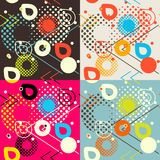 Abstract seamless pattern. Pixelated geometric shapes motif Royalty Free Stock Image