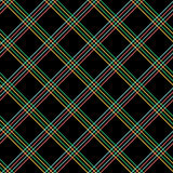 Abstract Seamless Pattern with Plaid Fabric on a black background. Stock Photography