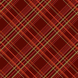 Abstract Seamless Pattern with Plaid Fabric on a dark brown background. Royalty Free Stock Photo