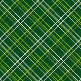 Abstract Seamless Pattern with Plaid Fabric on a dark green background. Royalty Free Stock Photography
