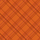 Abstract Seamless Pattern with Plaid Fabric on an orange background. Stock Photos