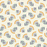 Abstract seamless pattern with plants Stock Images